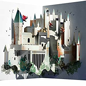 pop up 3d karte hogwarts grusskarte geburtstag gutschein ber hmtes schlo 16x11cm. Black Bedroom Furniture Sets. Home Design Ideas