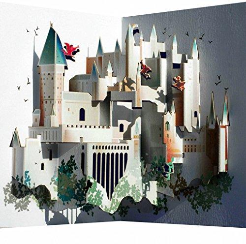 Pop-Up-3D-Karte-Hogwarts-Grusskarte-Geburtstag-Gutschein-Berhmtes-Schlo-16x11cm