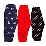 TOM & JERRY BABY PAJMA 100% COTTON HOUSIRY LEGGINGS & LOWERS FOR KIDS TODDLERS TRACK PANT WITH SOFT RIB PREMIUM EXPORT QUALITY BABY LEGGINGS FOR BABY BOYS AND GIRLS UNISEX LOWERS SET OF 3 PAJAMAS SET PACK OF 3 PCS. (RED, 2-3 Years)
