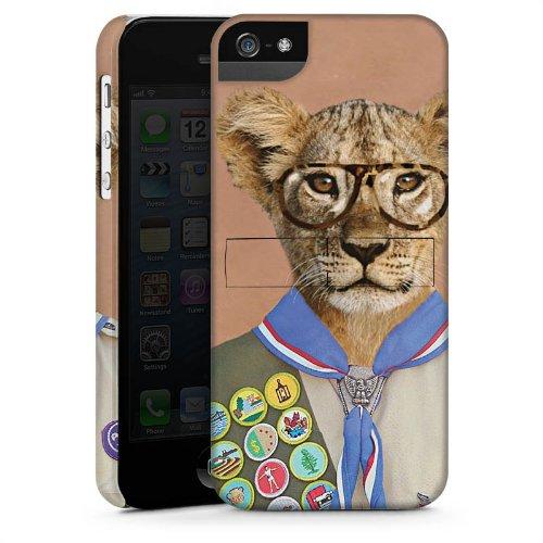 Apple iPhone 6 Housse Étui Silicone Coque Protection Lion Hipster Lion CasStandup blanc