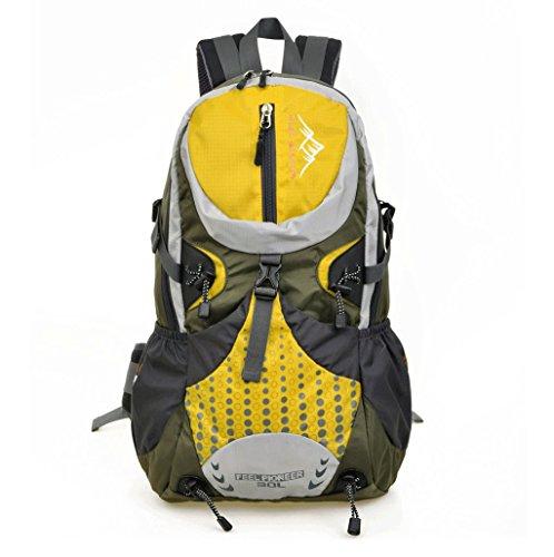 Multifunktionale Reise professionellen Outdoor Bergrucksackbeutel Camping Rucksack Tasche wasserdicht Reiten Gelb