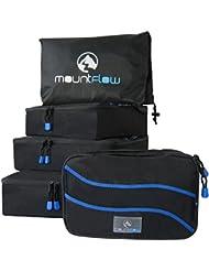 Cubos de Embalaje para Maleta - Organizador Equipaje Para Maletas Grandes Pequeñas y Mochilas en un Conjunto de Organizadores de Viaje con 4 Bolsos para Equipaje y Saco de Lavandería