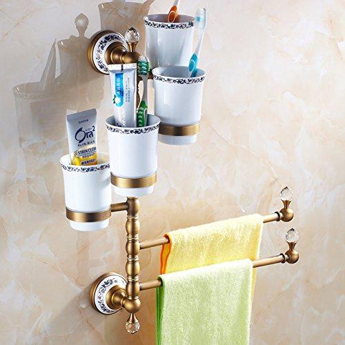 serviette de style européen /Porte-serviette en laiton massif/[Porte-serviettes]/ Antique porte-serviette activités rotatif / Verre de brosse à dents porte-serviettes -K