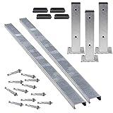 TMS PRO SHOP Rammschutz-Planken Komplett-Set, verzinkt, Stahl, C-Profil aus Stahl (2 m)
