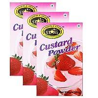 TRIPPLESTAR Strawberry Custard Powder, 100 gm, Pack of 3