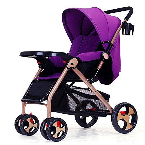 Sillas De Paseo Ligero Carritos De Bebe Plegable Carro Bebe De Viaje Por Cochecito De Bebé De 0-36 Meses Niños Deportivo Fold Capacidad Plegable Max 15 Kg,Purple