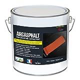 PEINTURE BITUME ARCASPHALT - Peinture résine pour sol bitume, asphalte, goudron, enrobé - blanc, 3.75 KG pour 7.5m2 en 2 couches
