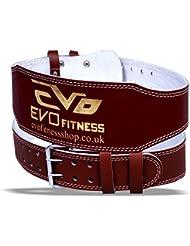 EVO Fitness - Ceinture cuir pur soutien dorsal 15cm haltérophilie gym