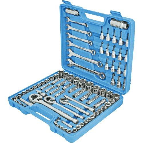 Silverline 868818 - Juego de 90 herramientas para mecánico
