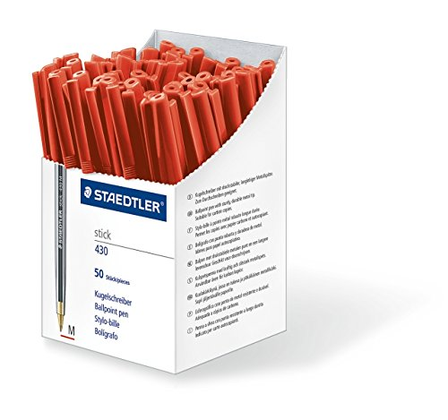 staedtler-stick-430-m-2cp5-ballpoint-pen-medium-red-box-of-50