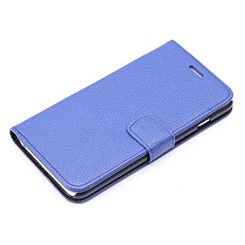 "inShang Hülle für Apple iPhone 6 Plus iPhone 6S Plus 5.5 inch iPhone 6+ iPhone 6S+ iPhone6 5.5"", Cover Mit Modisch Klickschnalle + Errichten-in der Tasche + GRID PATTERN, Edles PU Leder Tasche Skins E super PU light blue"