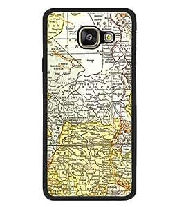 Fuson Designer Back Case Cover for Samsung Galaxy A7 (6) 2016 :: Samsung Galaxy A7 2016 Duos :: Samsung Galaxy A7 2016 A710F A710M A710Fd A7100 A710Y :: Samsung Galaxy A7 A710 2016 Edition (Travel Map Sail World Tour Pirates)