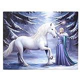 Reines magisches Design, Fantastisches Einhorn Design von Künstler Anne Stokes, Fantasie Leinwand Bild auf Rahmen Wand Tapete/Wand Kunst