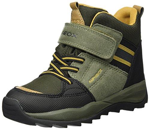 Geox Jungen J Orizont Boy Abx B Schneestiefel, Grün (Military/Dk Yellow), 37 EU (Kinder Military Stiefel)