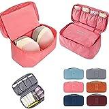 #3: Hk Villa Travel Women's Storage Bag for Underwear Clothes Lingerie Bra Cosmetic Pouch Suitcase Case Underwear Tote Bra Case Bra Organiser Multi Color