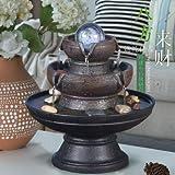 SPYXGS Home Lucky Flow Brunnen Wohnzimmer Feng Shui Wasseransicht Luftbefeuchter Kreative Büro Desktop Dekoration