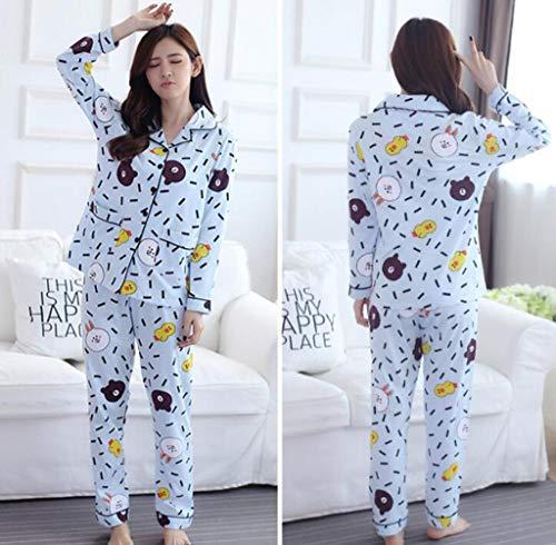 Marcus R Caveggf Damen Pyjama Loungewear Set Lange Ärmel große Größe Floral Top Baumwolle Nachtwäsche Verschiedene Größen, m - Charmeuse Cami Top