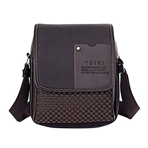 37YIMU® Bolso de cuero de la PU Mensajero de los hombres marrón/negro maletín portátil bandolera