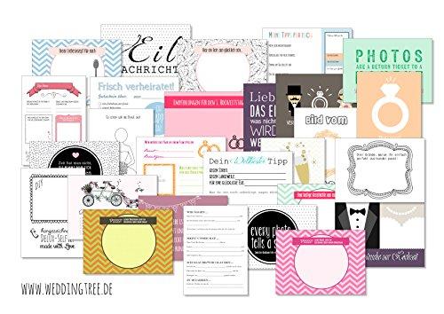Hochzeitsspiel 52 Postkarten mit Fragen statt Gästebuch für Hochzeit 52 Wochen Spiel für Hochzeiten