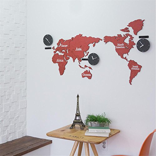 Desertcart oman mgwq buy mgwq products online in oman muscat acrylic wall mounted mute clock world map wall stickers living room decoration suzuki movement clock a gumiabroncs Image collections