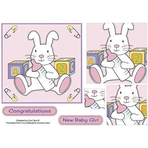 Cute Baby Bunny in Eva Canon colore: rosa