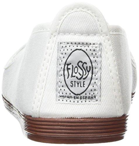 Flossy Mijas, Espadrilles femme Blanc (White 101)