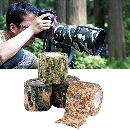 CAOLATOR 3 X Tarnungs Band Selbstklebend Taktisches Band Schutzband Tarnungszubehör Dekor Stretch Bandage Klebeband Tape in Army Look für Outdoor/Jagd