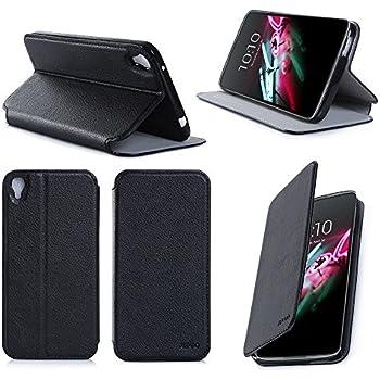 Etui luxe Alcatel Onetouch IDOL 3 4.7 pouces noir Slim Cuir Style avec stand - Housse coque de protection Alcatel Onetouch IDOL 3 4.7 (nouveau smartphone 2015) noire Dual Sim - Prix découverte accessoires pochette XEPTIO : Exceptional case !