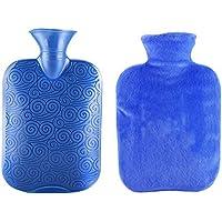 Klassische transparente Gummiwasserflasche 1 Liter mit Abdeckung für Schmerz-Kältetherapie #30 preisvergleich bei billige-tabletten.eu