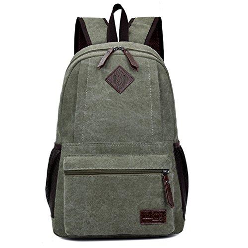 b3a001d858 Outreo Borsa Uomo Borsello Zaino Vintage Laptop Backpack per Studenti Scuola  universitš€ Sacchetto Sportive Outdoor Zaini Sport Borse Viaggio Tasca di  Tela