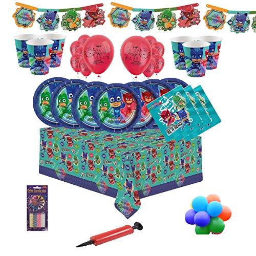hirr Kindergeburtstag Party Kit für 8, 16, 24, 32 - Free Plain Ballons und Kerzen ()