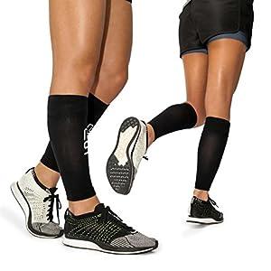 Modetro Sports Wadenbandage | Waden Kompressionsstrümpfe zur Leistungssteigerung und Abhilfe bei Schienbeinkantensyndrom, Durchblutungsstörungen und Krämpfen