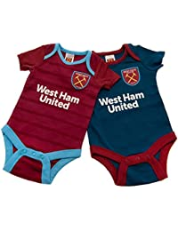 West Ham United FC - Pack de 2 Monos para bebés