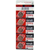 5 Pieces of Maxell CR2016 Lithium Button Coin Cell Battery 3V Imported CR 2016 Fresh Stock