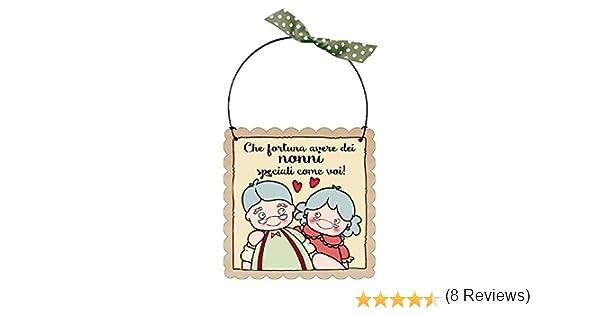 """TARGA targhetta /""""CHE FORTUNA AVERE.. NONNI/"""" idea regalo"""