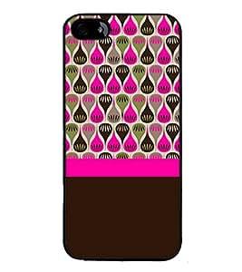 Fuson Designer Back Case Cover for Apple iPhone 5 (bindi lines srtips rangoli art)