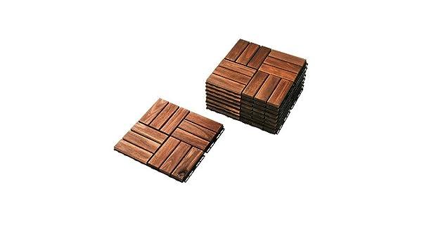 Ikea runnen pavimento per esterni in legno verniciato colore