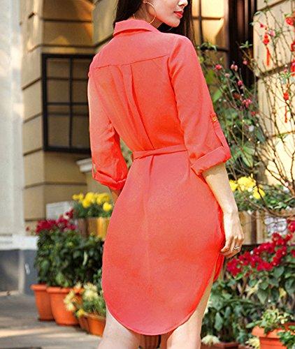 manbozix - Abito - Camicia  - donna Rot