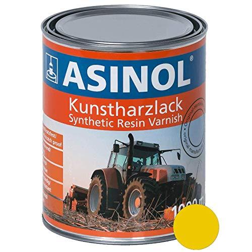 ASINOL RAL 1021 rapsgelb hochglänzend 1 Liter, 1.000ml Kunstharzlack
