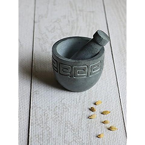 Store Indya, Naturale tradizionale Soapstone mortaio e pestello per la cucina Décor uso cucina accessori