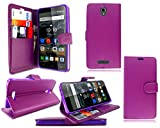 For Alcatel One Touch Pop 4 5051X New Purple Leather Book
