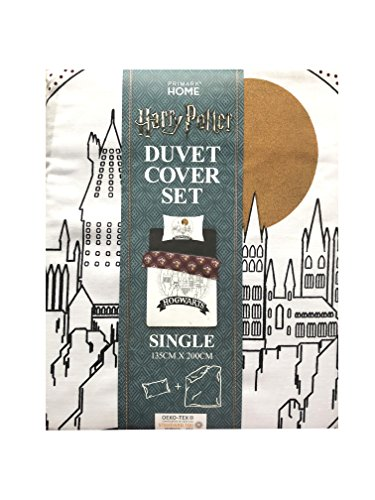 Hogwarts Harry Potter Reversible Duvet & Kissenbezug Set Einzel- oder Doppel (Single) -
