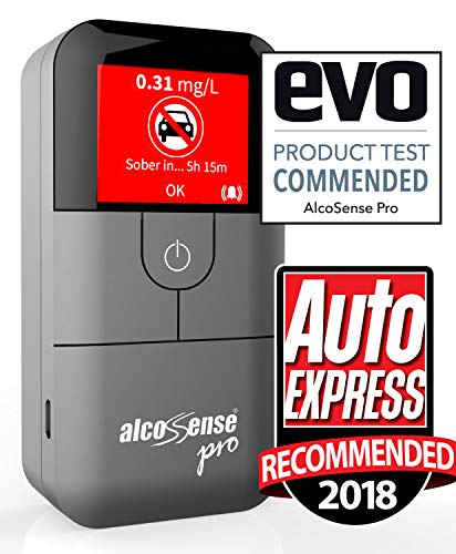 AlcoSense Pro Fuel Cell Breathalyser/Breathalyzer & Alcohol Tester - Sunday  Times - Rating: 5 STARS