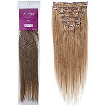 Lina Extensiones de pelo humano natural con clip, pelo suave, disponible en 20 colores