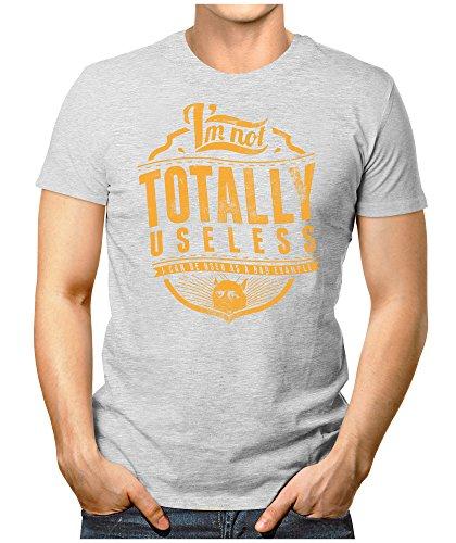 PRILANO Herren Fun T-Shirt - TOTALLY-USELESS - Small bis 5XL - NEU Grau Meliert