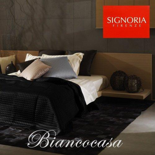 Signoria di Firenze Couvre-lit matelassé pour lit 2 personnes Masaccio - 360 Nero
