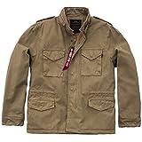 Alpha Industries Vintage M-65 CW robuste Army-Jacke mit großen Taschen Innenfutter für kalte Temperaturen Parka aus Baumwolle, Größe:S, Farbe:khaki