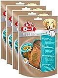 8in1 Fillets Pro Breath Chicken Snacks, Größe S, funktionale Leckerlies für Hunde, 4er Pack (4 x 80 g)