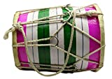Decorative Handmade Indian Wooden Multicolour Mini Dholak For Kids - 7.5 Inches