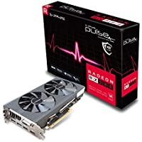 SAPPHIRE Pulse Radeon RX 580 4G GDDR5 Dual HDMI/DVI-D/Dual DP Graphics Card - Black